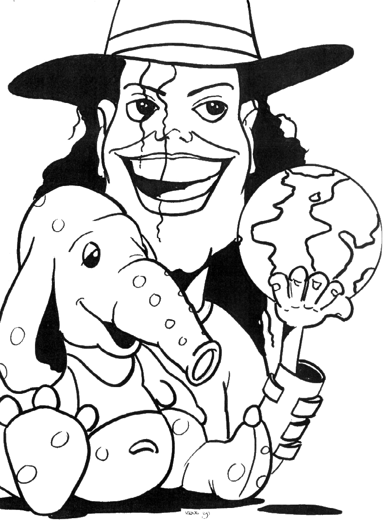Michael Jackson Cartoon Coloring Coloring Pages